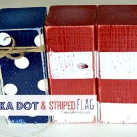 4×4 Post Polka Dot and Striped Flag