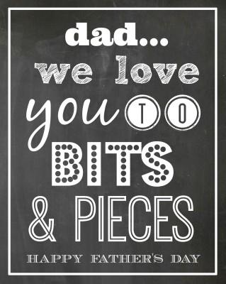 Bits & Pieces Father's Day Gift Idea & FREE PRINTABLE | oldsaltfarm.com