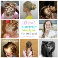 Summer Hairstyles for Little Girls | simplykierste.com