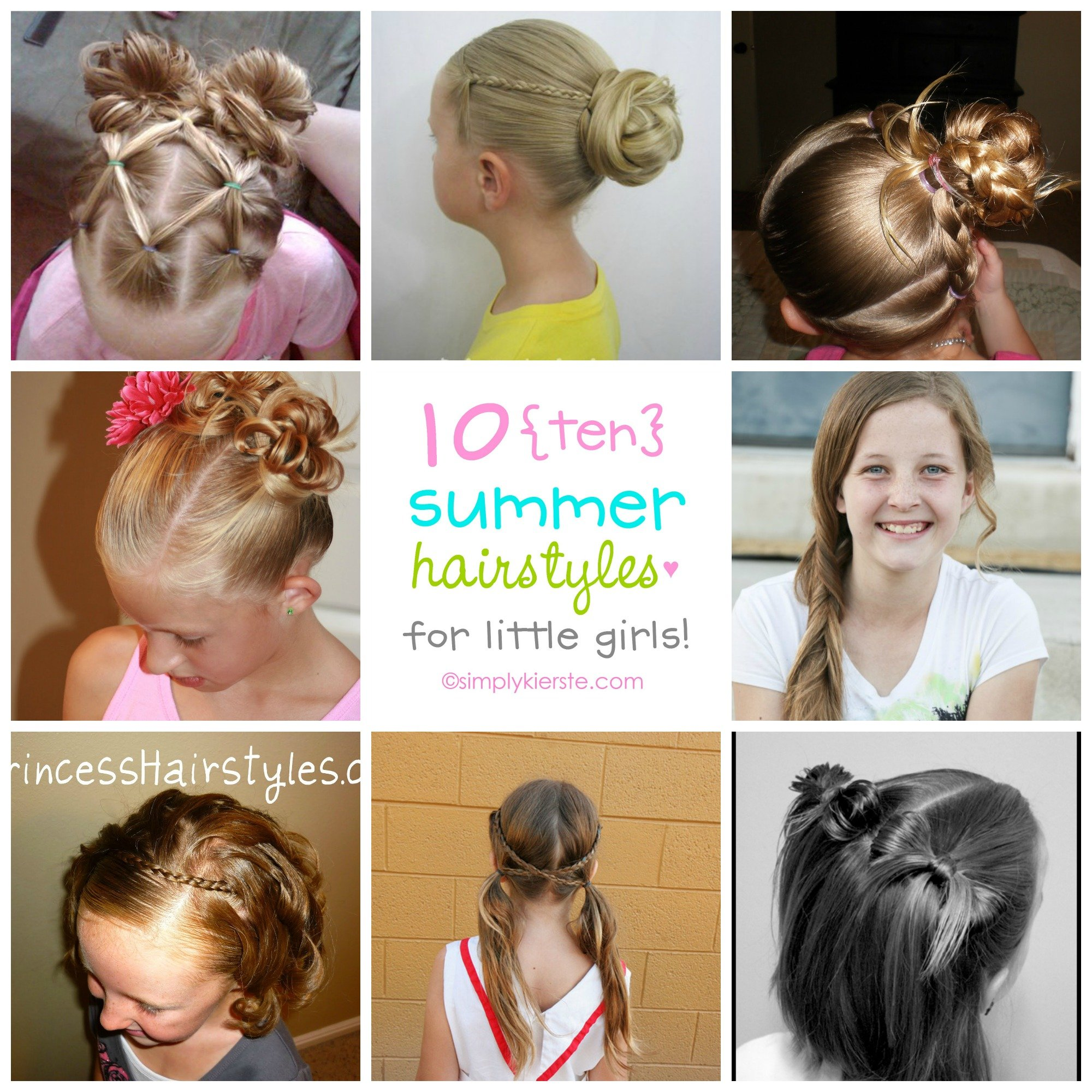 10 fun summer hairstyles for little girls | simplykierste