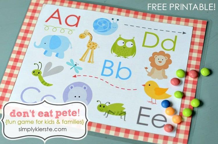 don't eat pete | free printable | simplykierste.com