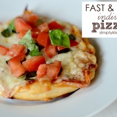 Fast & Easy Individual Pizzas | simplykierste.com