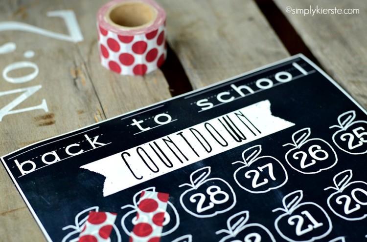 chalkboard back to school countdown | simplykierste.com