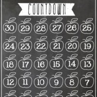 Chalkboard Back to School Countdown Printable {FREE!}
