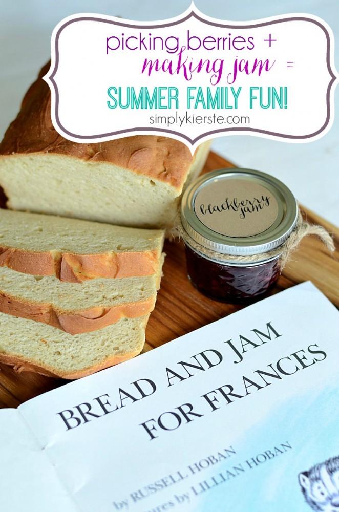 picking berries, making jam, summer family fun   simplykierste.com