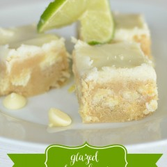 Glazed Lime Bars | simplykierste.com