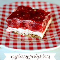 Raspberry Pretzel Bars