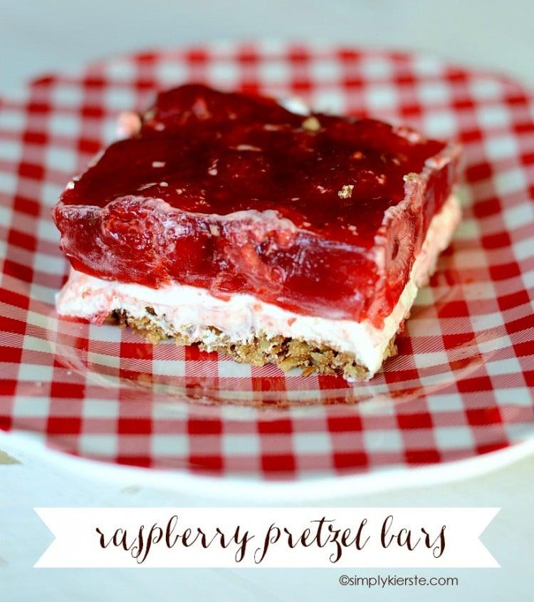 Raspberry Pretzel Bars | oldsaltfarm.com