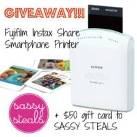 Instax Share Smartphone Printer + $50 Sassy Steals GIVEAWAY!!!