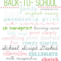 favorite & free back-to-school fonts | oldsaltfarm.com