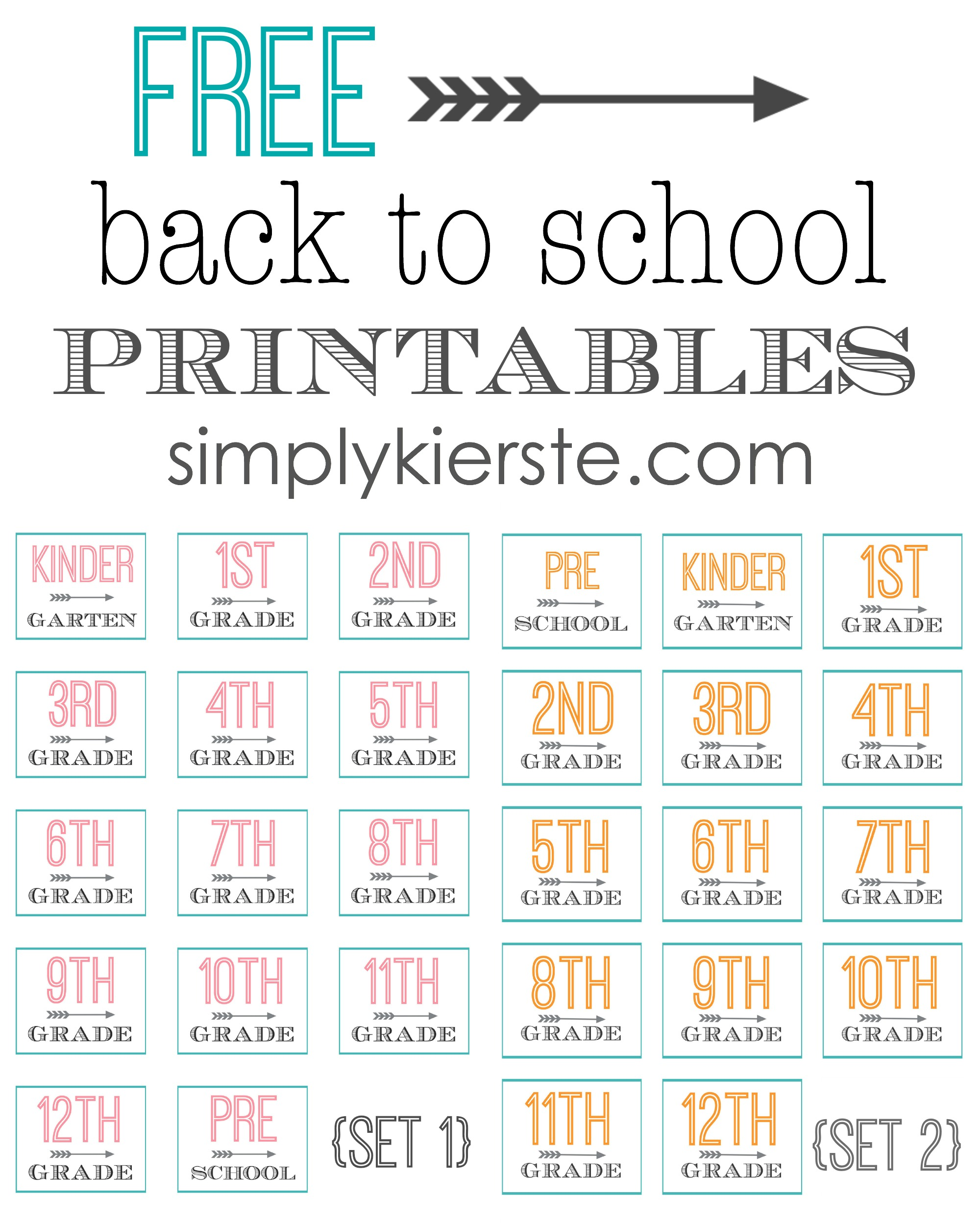 free back to school printables | simplykierste.com