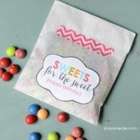 Sweets for the Sweet: Birthday Gift Tags
