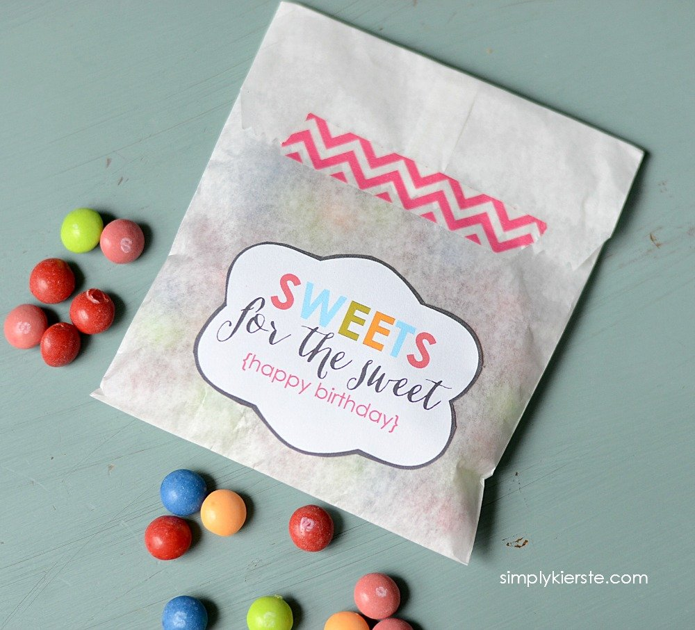 Sweets For The Sweet Friend Gift Idea Free Printable