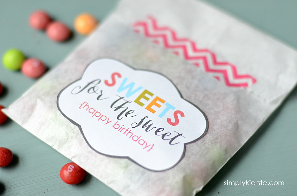 Free Birthday Tags ~ Sweets for the sweet birthday gift idea free printable