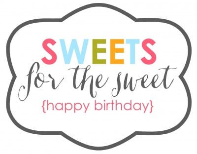 Sweets for the Sweet Friend Gift Idea & Free Printable | oldsaltfarm.com