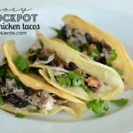 Easy Crockpot Salsa Chicken Tacos