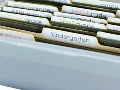 School Papers Storage Organization