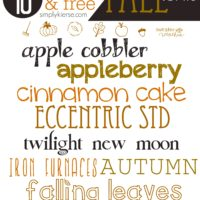 Favorite & FREE Fall Fonts