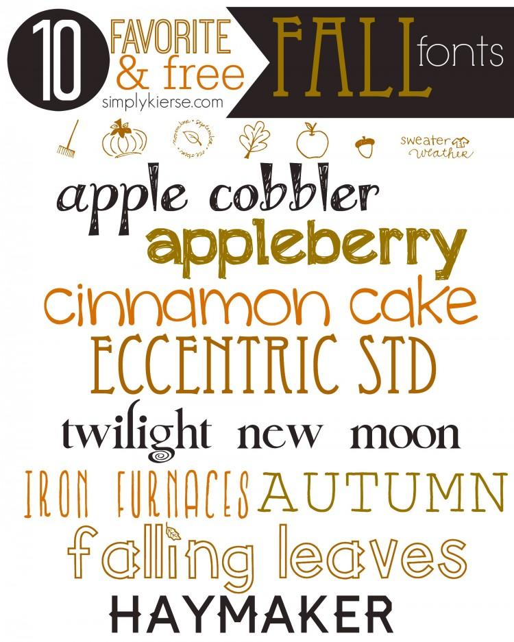 Favorite & FREE Fall Fonts | oldsaltfarm.com