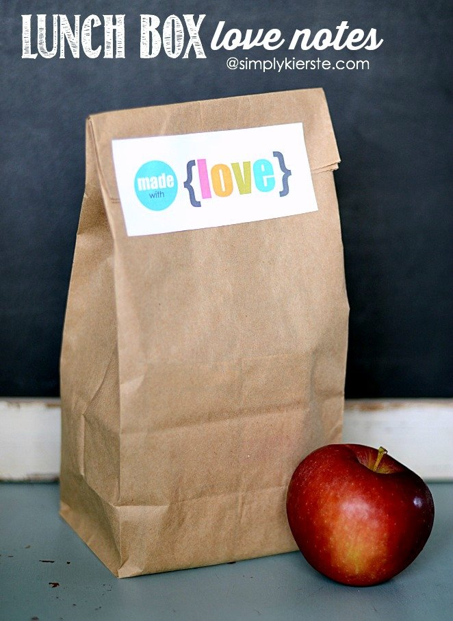 Lunchbox Love Notes | simplykierste.com
