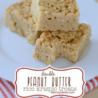 Double Peanut Butter Rice Krispie Treats