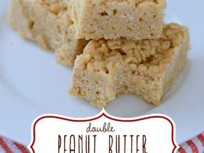 Double Peanut Butter Rice Krispies | simplykierste.com