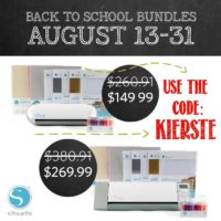 Silhouette Back to School Promo & Portrait Giveaway!!