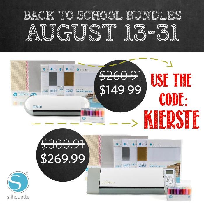 Silhouette Back to School Promo | simplykierste.com
