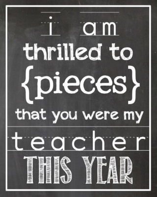 Thrilled to Pieces Teacher Gift | Free printable | simplykierste.com