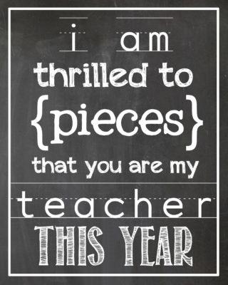 Thrilled to Pieces Teacher Gift | Free printable | simplykierste.com