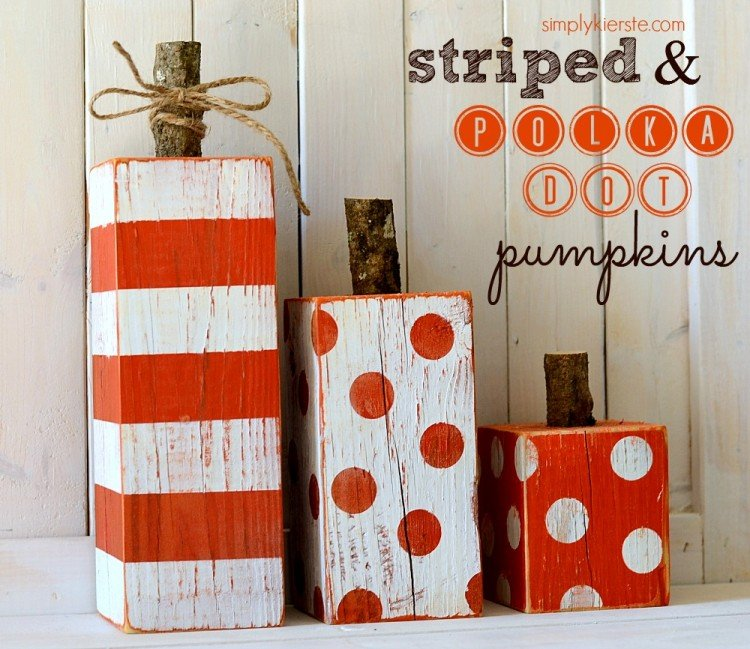 Striped & Polka Dot Pumpkins | simplykierste.com