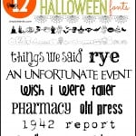 Not-So-Spooky Halloween Fonts & Dingbats