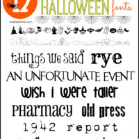 Not-So-Spooky Halloween Fonts | simplykierste.com