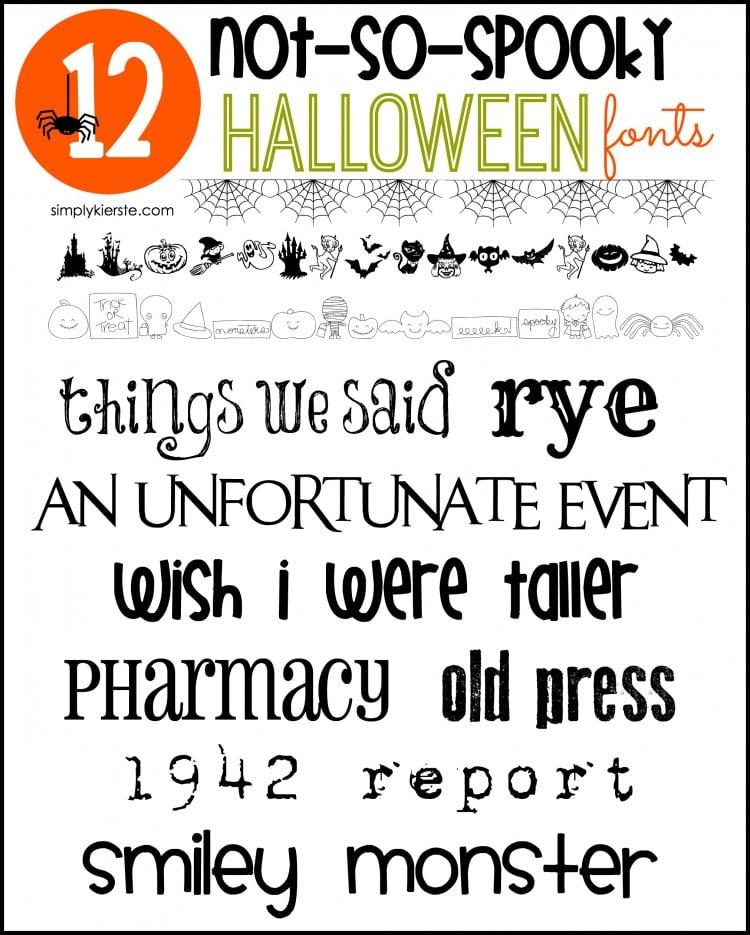 Not-So-Spooky Halloween Fonts | simplykierste.com