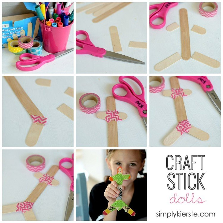 Craft Stick Dolls | A Fun Craft For Kids | oldsaltfarm.com