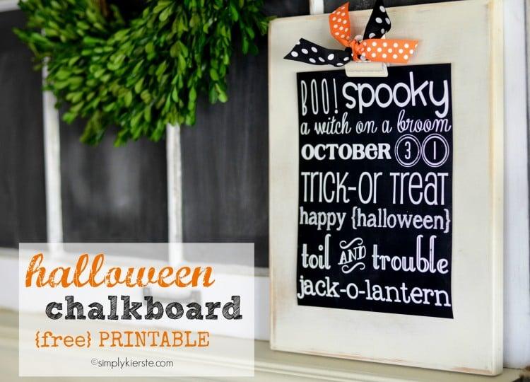 Halloween Chalkboard Printable | oldsaltfarm.com