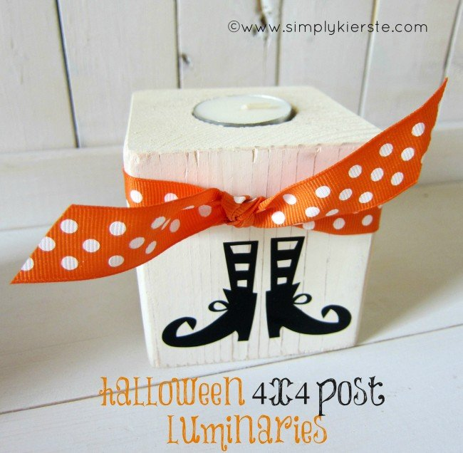 4x4 Post Halloween Luminaries | simplykierste.com