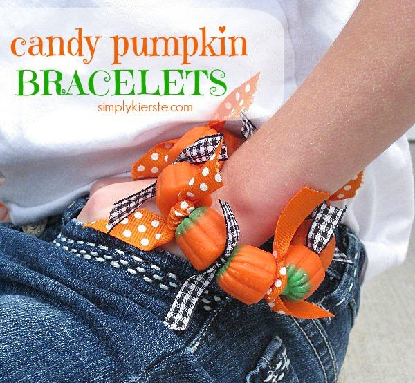 Candy Pumpkin Bracelets | simplykierste.com
