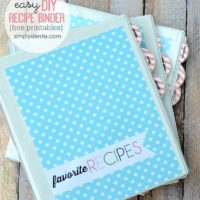 DIY Recipe Binder with FREE Printables!