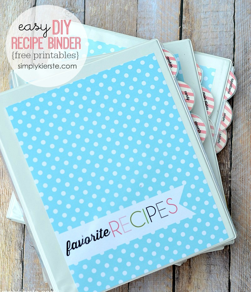 Diy recipe binder free printables for Diy wedding binder templates