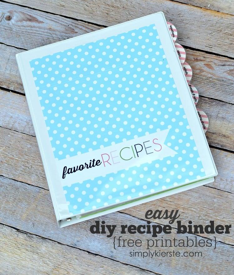 Easy DIY Recipe Binder | free printables | oldsaltfarm.com