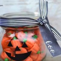 Jack-o-Lantern Treat Jar | Halloween Gift Idea | oldsaltfarm.com