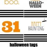 Halloween Tags {Free Printable}