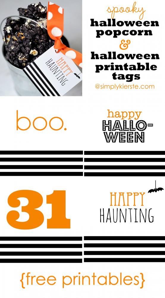 Spooky Halloween Popcorn & Free Printable Halloween Tags | simplykierste.com