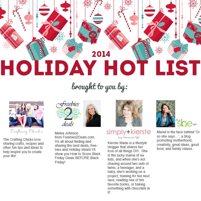 Holiday Hot List Digital Coupon Book 2014 | simplykierste.com