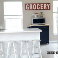 Kitchen Stools Makeover with Glidden: BEFORE
