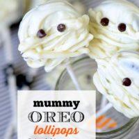 Mummy Oreo Lollipops