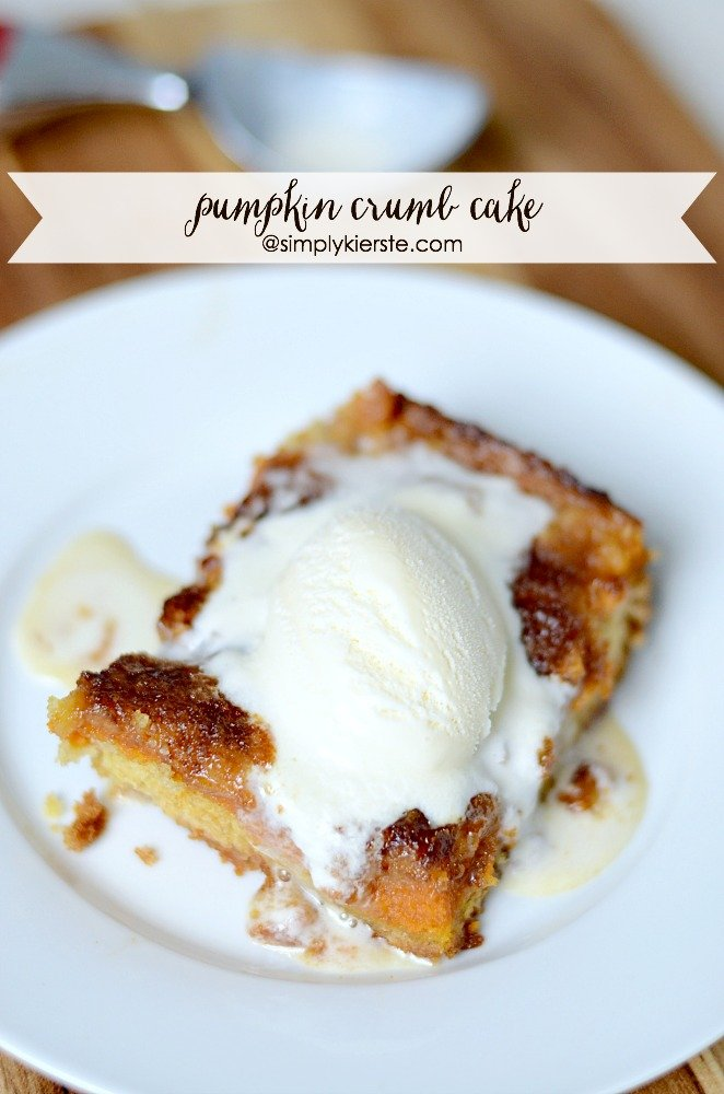 Pumpkin Crumb Cake | simplykierste.com