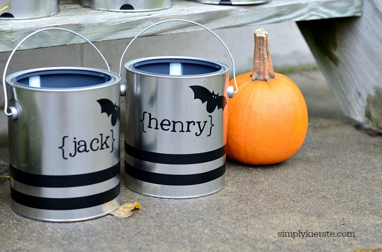 Paint Can Trick-or-Treat Buckets | oldsaltfarm.com