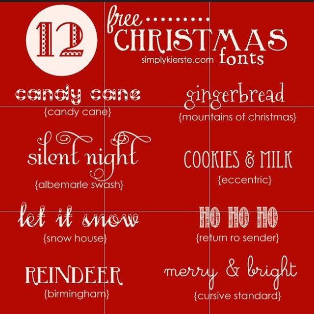12 Free and Fabulous #Christmas #Fonts #ontheblog today! I've included some darling #dingbats too--you don't want to miss them! #simplykierste #freefonts
